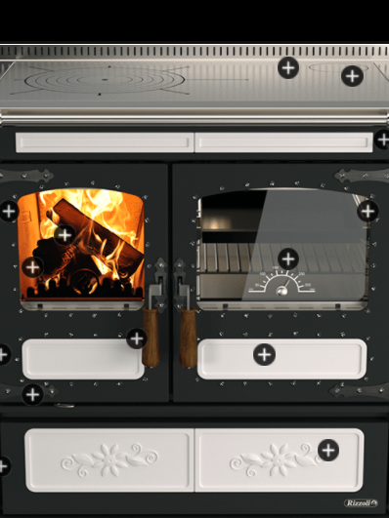 Kuchynský sporák na pevné palivo s výmenníkom  LT 90 KERAMIKA